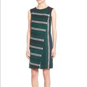 NWT Shoshanna wool green and black dress